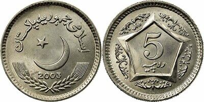 Pakistan 2003 5 Rupees Uncirculated (KM65)