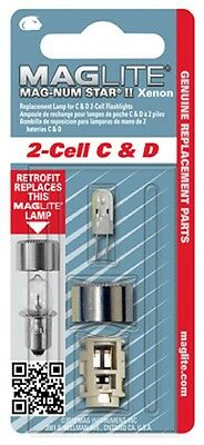 MagLite Replacement Bulbs for 2 C&D, 3 C&D, 4C&D, 5C&D, 6C&D, AA, AAA and 6V Hal