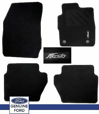 Genuine Ford Fiesta Black MK7 MK8 2011 Onwards Tailored Carpet Floor Mats Set