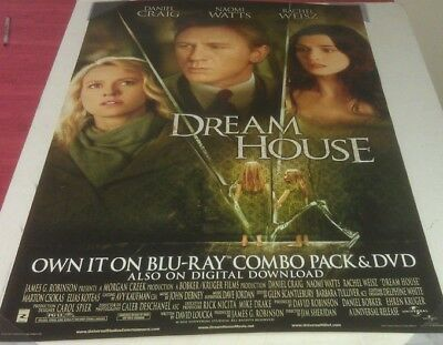 DREAM HOUSE DVD MOVIE POSTER 1 Sided ORIGINAL 27x40 DANIEL CRAIG