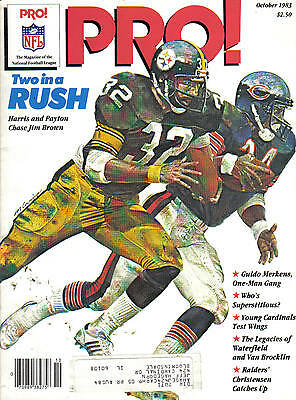 1983 National Football Magazine,Pro!, Franco Harris, Pittsburgh Steelers