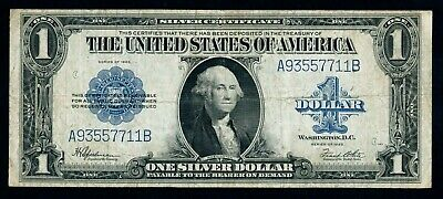 USA 1 Dollar 1923  aVF  GEORGE WASHINGTON    SILVER CERTIFICATE