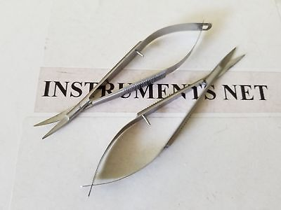 """SuperCut Noyes Iris Scissors 4.5"""" Straight and Curved Ophthalmic Surgical Inst"""