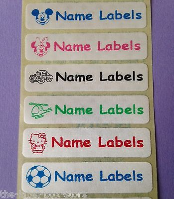 50 Sew in / Iron on Satin Finish Identity Clothes Name Labels Tapes Tags 46x12mm