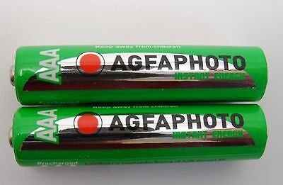 2 x AAA PANASONIC COMPATIBLE HOME PHONE RECHARGEABLE BATTERIES - READY TO USE