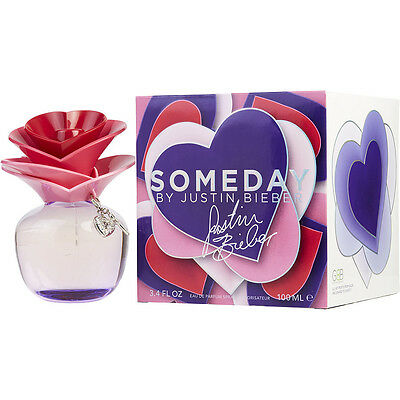 SOMEDAY 100ml EDP SPRAY FOR WOMEN BY JUSTIN BIEBER ----------------- NEW PERFUME