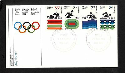 1972 FDC0521 MUNICH OLYMPICS First Day Cover PYMBLE Postmark 2078