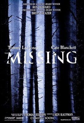 THE MISSING MOVIE POSTER 2 Sided ORIGINAL Advance 27x40 TOMMY LEE JONES