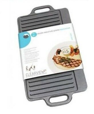 Clearview Flat Rectangular Reversible Deluxe Cast Iron Griddle 45cmx23cm For AGA