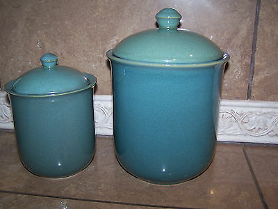Jcpenny Variations' Collection   Sage Stone (Green) China Canisters Set Of 2