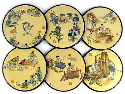 Korean Genre Painting Collection Coasters DW
