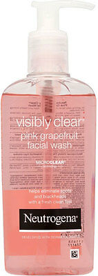Neutrogena Visibly Clear Pink Grapefruit Facial Wash 200ml **ACNE/SPOTS**S*