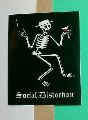 SOCIAL DISTORTION SKELETON HAT DRINK SMOKING iPod PHONE SM STICKER