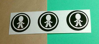 Lot of 3pcs PETER GABRIEL 03 BABY NO FACE DOLL ROUND iPod PHONE SMALL STICKER