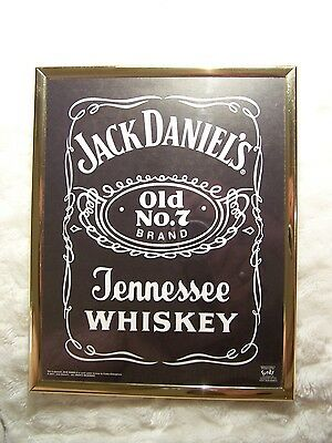 JACK DANIELS Cold No. 7 Funky Print Poster Frame Man Cave Ad Sign Display NEW