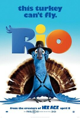 RIO MOVIE POSTER 2 Sided ORIGINAL Advance Ver B 27x40 ANNE HATHAWAY