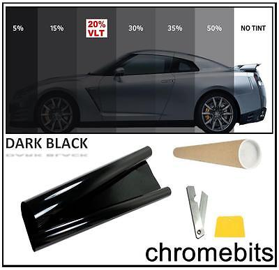 Tinting Window Tint Film Kit Dark Black 20% 50X300Cm Come In A Tube