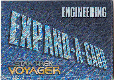 Star Trek Voyager Season 1 Series 1 Expand A Card Mail In Redemption X-3 Engine