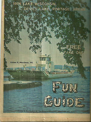 1974 Guide to Lake Wisconsin Devils Lake Portage Area Baraboo