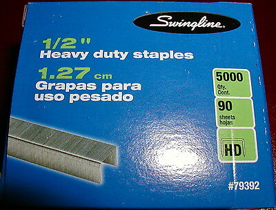 "Swingline 1/2"" Heavy Duty Staples, 2 Box's =10,000, S.F. 39, FREE SHIPPING USA"