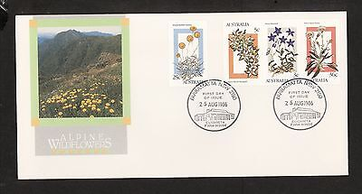 1986 FDC1031 ALPINE WILDFLOWERS FDC PMATTA ELIZABETH FARMHOUSE NSW 2150 Postmark