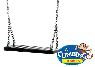 Commercial Heavy Duty Rubber Swing Seat - with galvanised chain playground safe