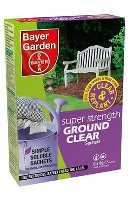 Bayer Superstrength Weedkiller Ground Clear 6 Sachet Weed Killer treats 150m2