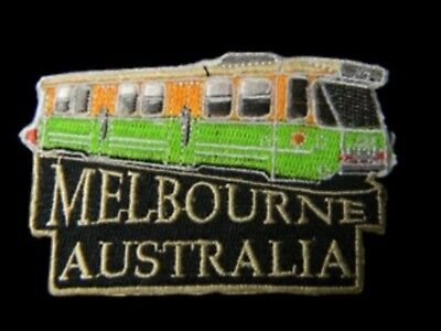 Australian Souvenir Iron Sew Stitch On Embroider Melbourne Tram Patch #EP16