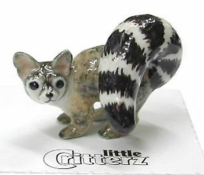 little Critterz Porcelain Miniature Ringtail Cat - LC147 (Buy 5 get 6th free!)