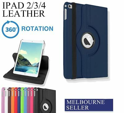 iPad 4 3 2 Case Cover for Apple - Premium Stand Smart PU Leather Cover