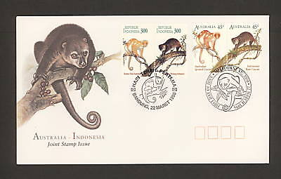 1996 Fdc1587 Australia-Indonesia Joint Issue, Australian + Indonesian Issue Fdc