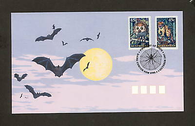 1997 FDC1721 CREATURES OF THE NIGHT Peel & Stick First Day Cover