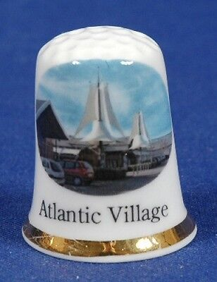 'Atlantic Village' Devon Exclusive Bone China Thimble B/83