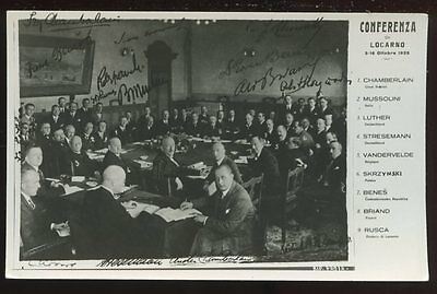 Switzerland 1925 Locarno INTERNATIONAL CONFERENCE PPC official