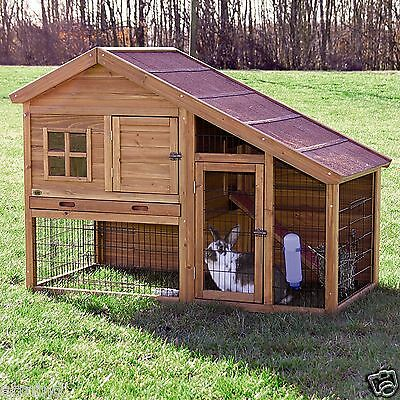 NEW TWO STORY SMALL ANIMAL HUTCH cage ENCLOSURE bunny guinea pig rabbit ranch