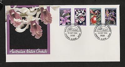 1986 FDC1035 ORCHIDS SYDNEY PSC NSW 2000 Postmark on First Day cover