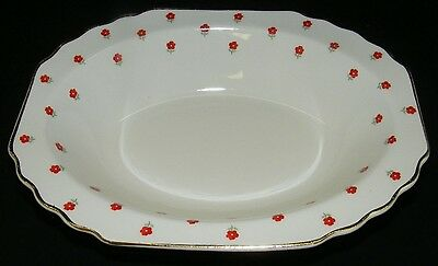 W.S. George Blushing Rose Oval Vegetable Bowl