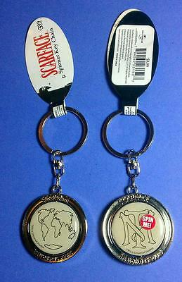 Scarface World Is Yours Tn Tony Pacino Map Metal Spinning Spinner Ring Keychain