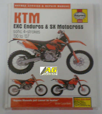 KTM SX Motocross EXC Enduro Haynes Manual 4 Strokes MX
