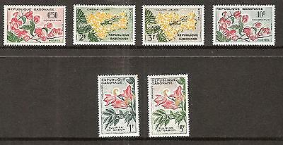 Gabon # 154-159 Mnh  Flowers In Natural Colors