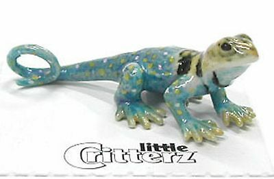little Critterz Porcelain Miniature - Collard Lizard- LC326 (Buy 5 get 6th free!