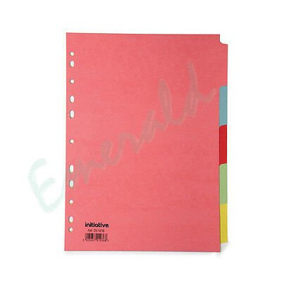5 Part Subject File Filing Dividers A4 Multi Coloured  - Same Day Dispatch