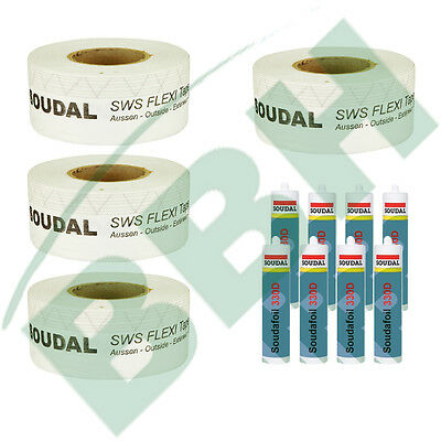 Fenster-Set 4: 100 mtr. Fensterdichtband SWS Flexi Tape Outside 70mm