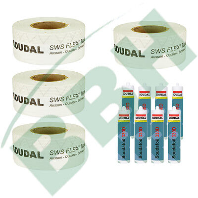 Fenster-Set 6: 100 mtr. Fensterdichtband SWS Flexi Tape Outside 150mm
