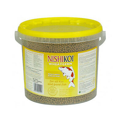 2.5kg NISHIKOI WHEATGERM WINTER KOI FISH FOOD PELLETS LARGE PELLET POND FEED