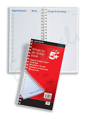 5 x `Things to do Today` Pads A4 80-Sheet Book 5052597 P5CC#