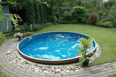 Pool rund set 4m x 1 20m 0 6 folie stahlwandbecken for Folie pool rund