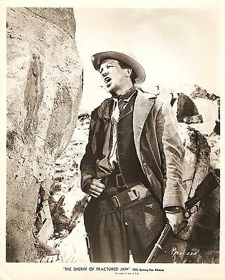 """WILLIAM CAMPBELL in """"The Sheriff of Fractured Jaw"""" Original Vintage 1958"""