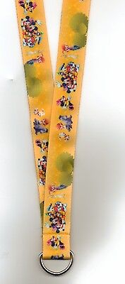 Disney Pin Lanyard Mickey Mouse, Fab5, Daisy, Bolt And More 40 Inch Adult Size