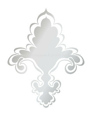 Designer FLEUR DE LIS STENCIL CHIC PATTERN FAUX DECOR #3001 Choose Custom Size